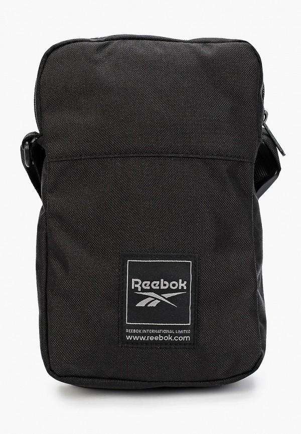 женская сумка через плечо reebok, черная