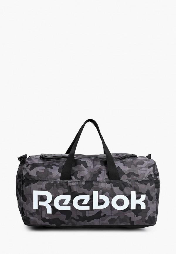 женская спортивные сумка reebok, серая