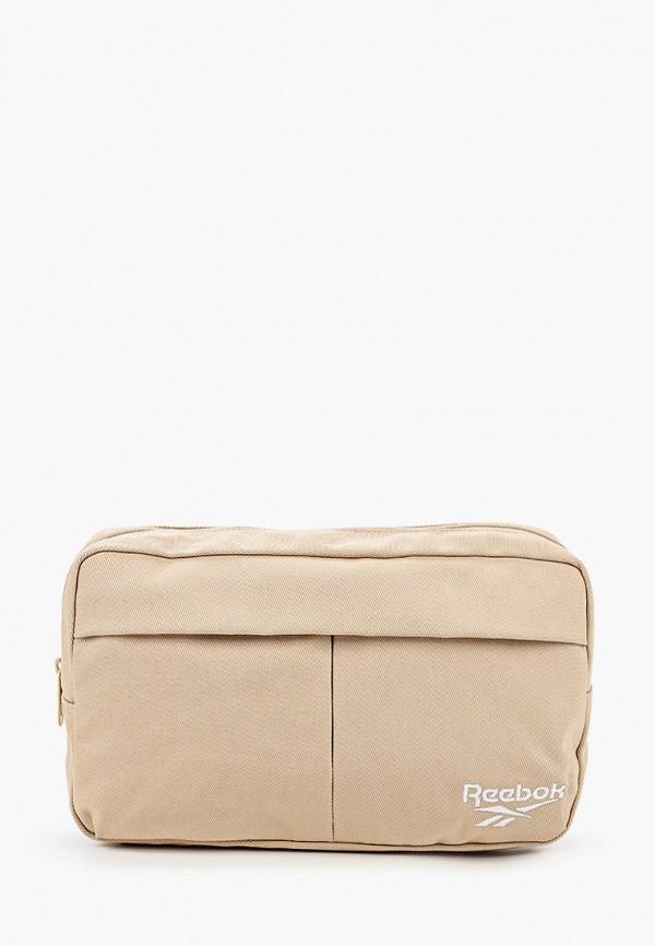 женская поясные сумка reebok classic, бежевая