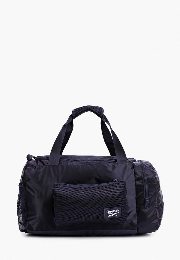 женская спортивные сумка reebok, фиолетовая