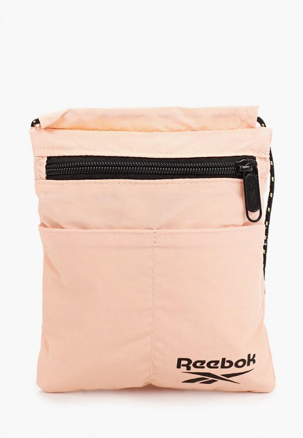 женская сумка reebok classic, розовая