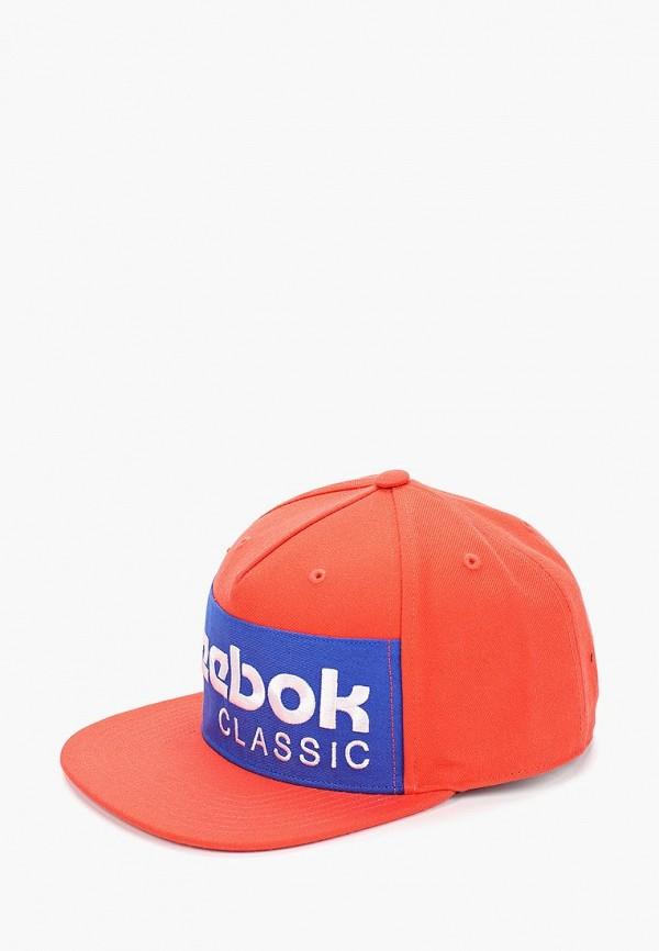 женская бейсболка reebok, оранжевая