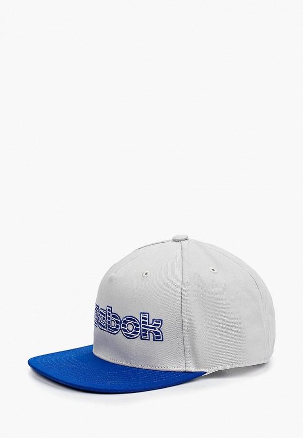 Купить Бейсболка Reebok Classics, CL Basketball 6 panel cap, re005cuedxu4, серый, Весна-лето 2019