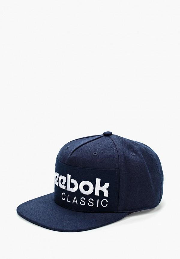 Купить Бейсболка Reebok Classics, CL FOUNDATION CAP, re005cuhft90, синий, Весна-лето 2019