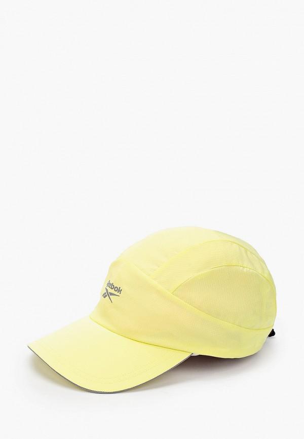 женская бейсболка reebok, желтая