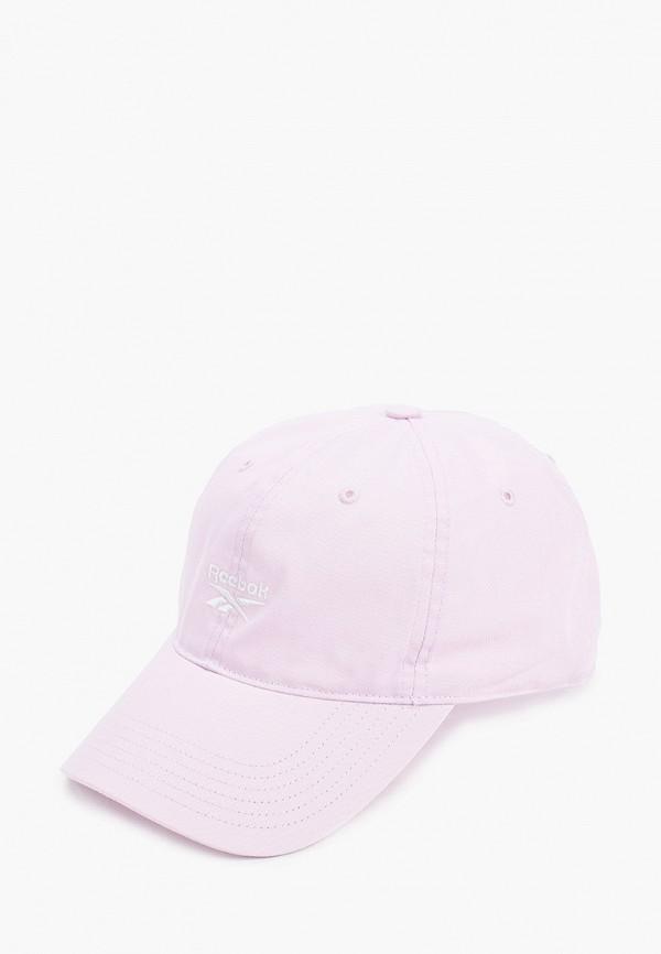 женская бейсболка reebok, розовая