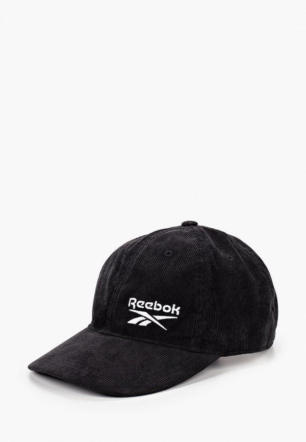 женская бейсболка reebok classic, черная