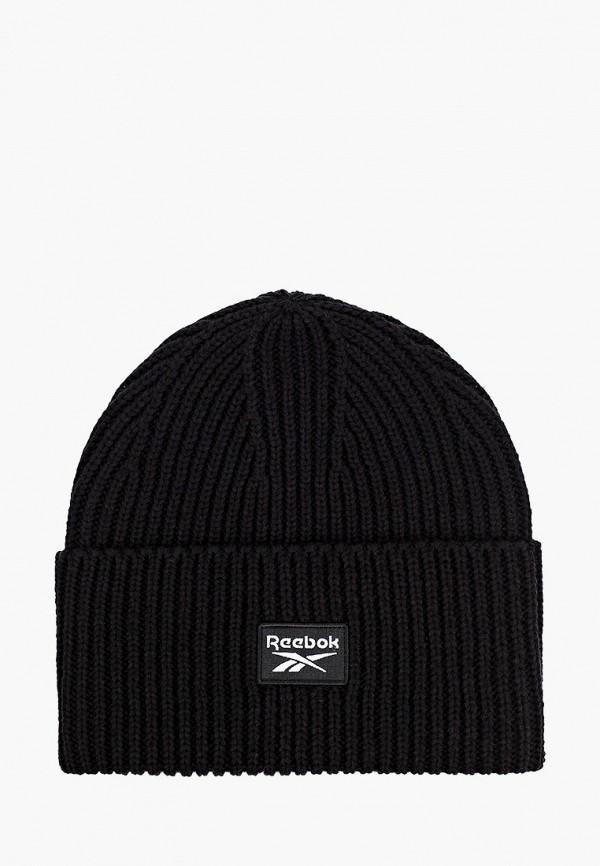 женская шапка reebok classic, черная