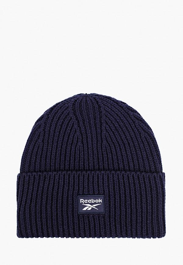 женская шапка reebok classic, синяя