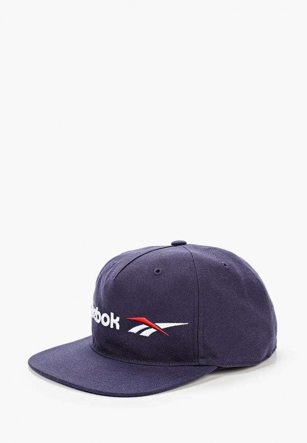 женская кепка reebok classic, синяя