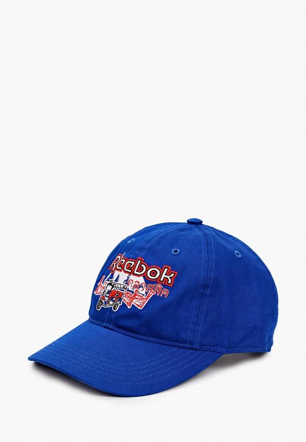 женская бейсболка reebok classic, синяя
