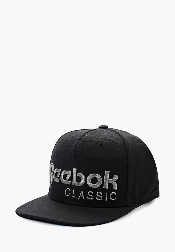 женская бейсболка reebok, черная