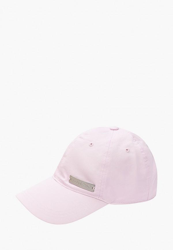 женская бейсболка reebok, фиолетовая