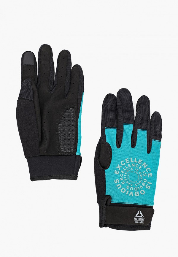 женские перчатки reebok, бирюзовые