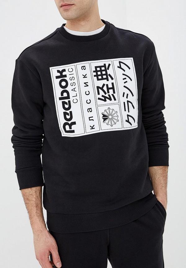 мужской свитшот reebok classic, черный
