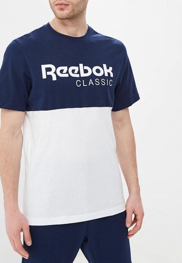 Купить Футболка Reebok Classics, CL REEBOK CL, re005emehhw4, синий, Весна-лето 2019