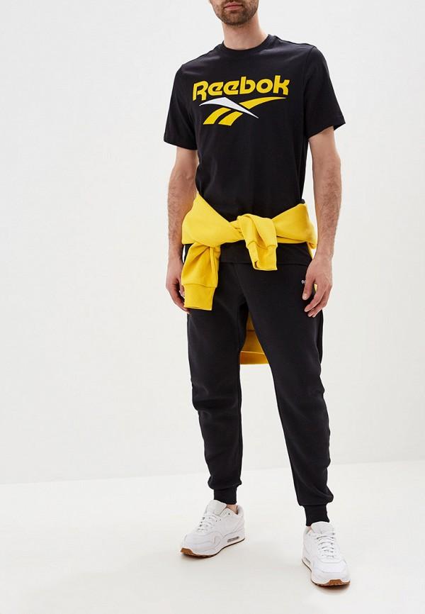 Фото 2 - мужскую футболку Reebok Classics черного цвета