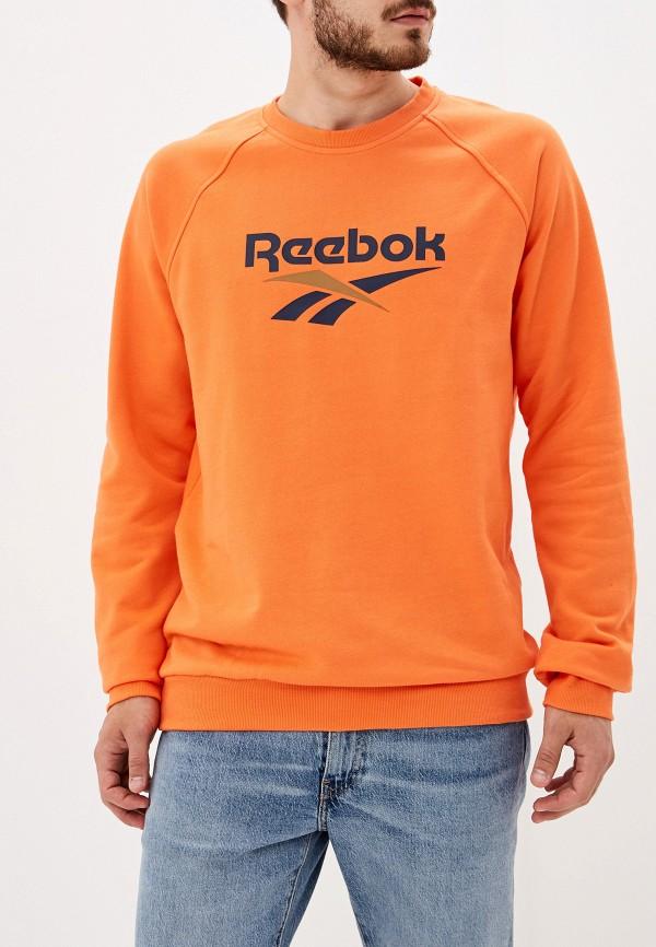 мужской свитшот reebok, оранжевый