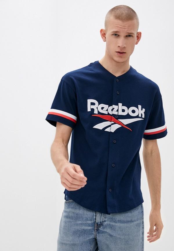 мужская спортивные футболка reebok classic, синяя