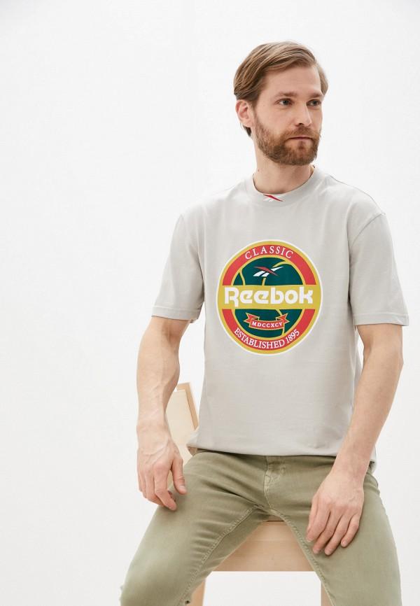 мужская спортивные футболка reebok classic, серая