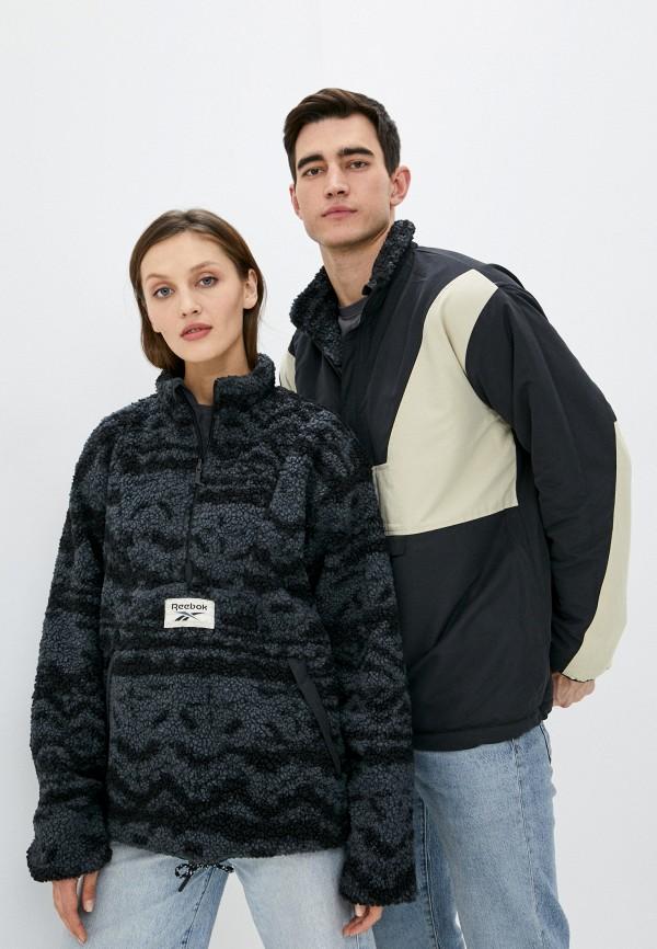 женская куртка reebok classic, черная
