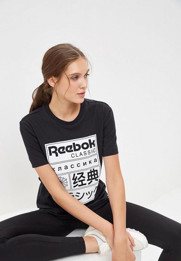 Купить Футболка Reebok Classics, CL GP TEE, re005eweetc0, черный, Весна-лето 2019