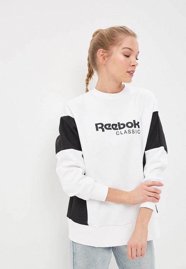 женский свитшот reebok, белый