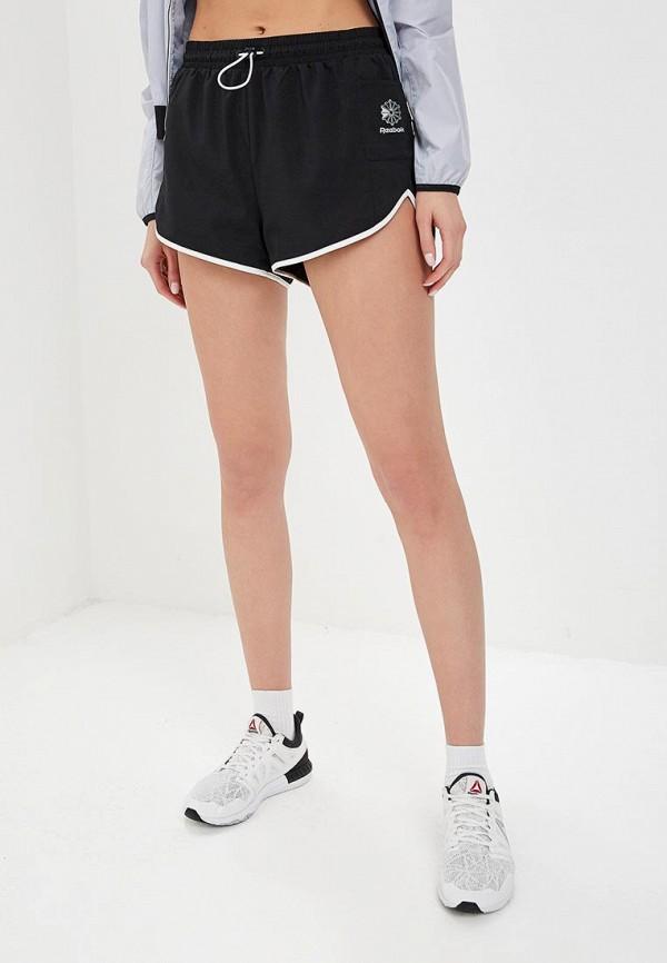 женские спортивные спортивные шорты reebok, черные