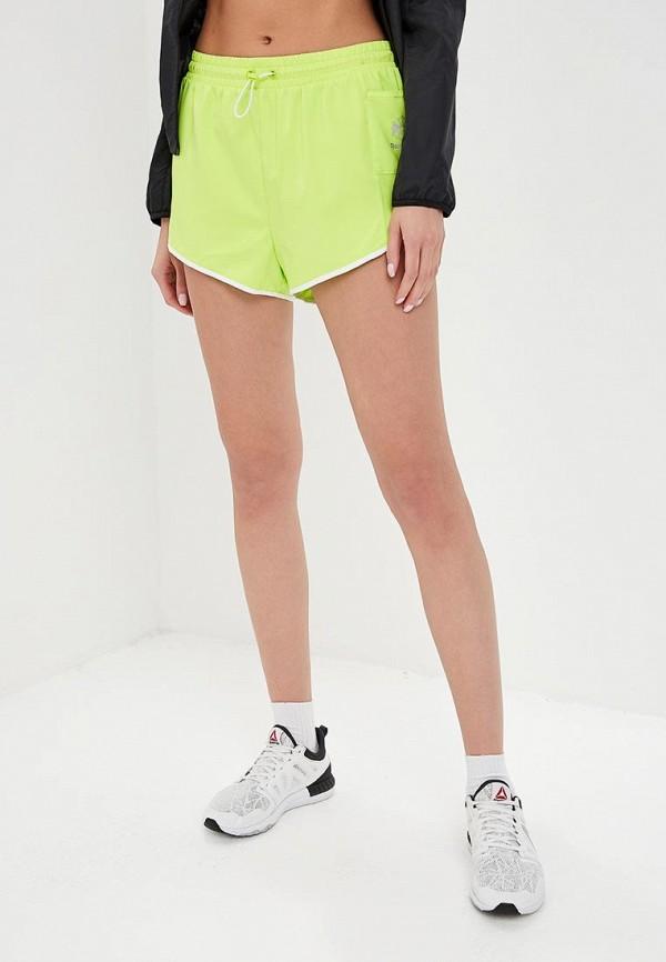 женские спортивные спортивные шорты reebok, желтые