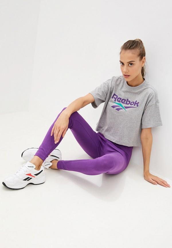 Фото 2 - Леггинсы Reebok Classics фиолетового цвета