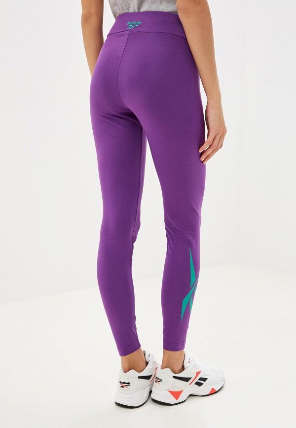 Фото 3 - Леггинсы Reebok Classics фиолетового цвета