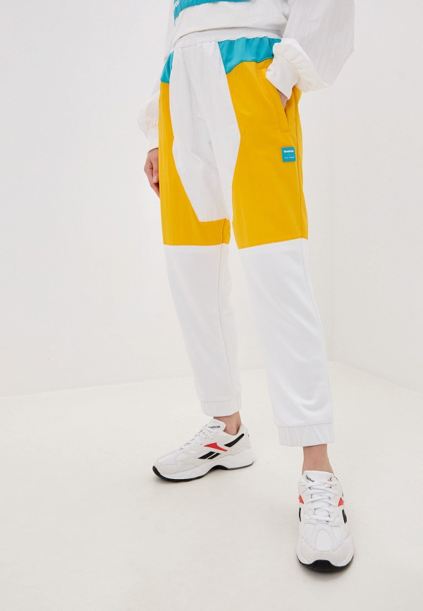 женские спортивные брюки reebok, белые