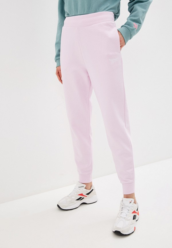 женские спортивные брюки reebok classic, розовые