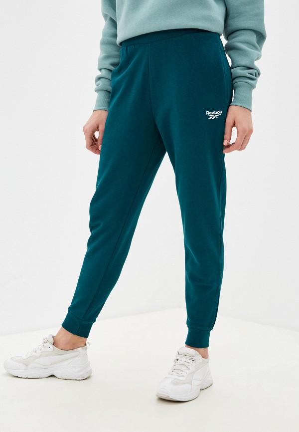 женские спортивные брюки reebok classic, зеленые