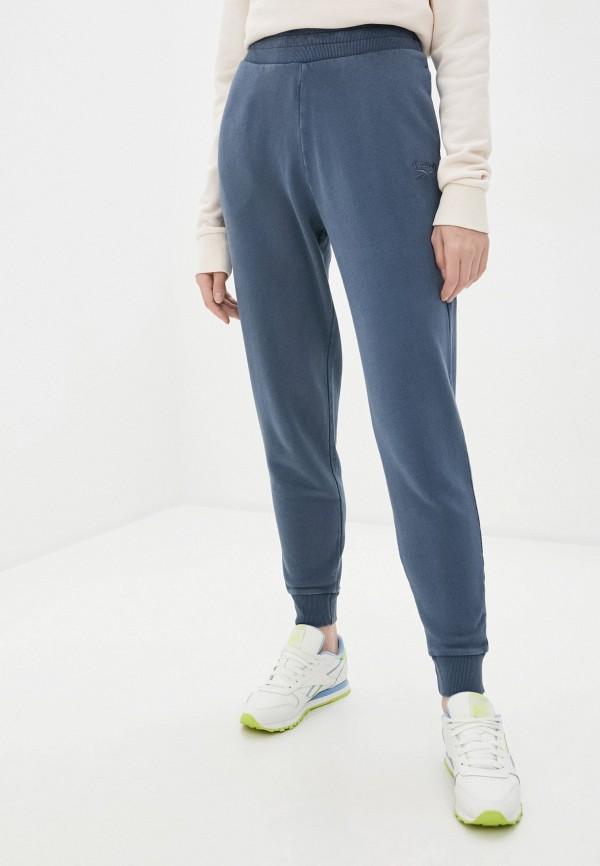 женские спортивные брюки reebok classic, синие