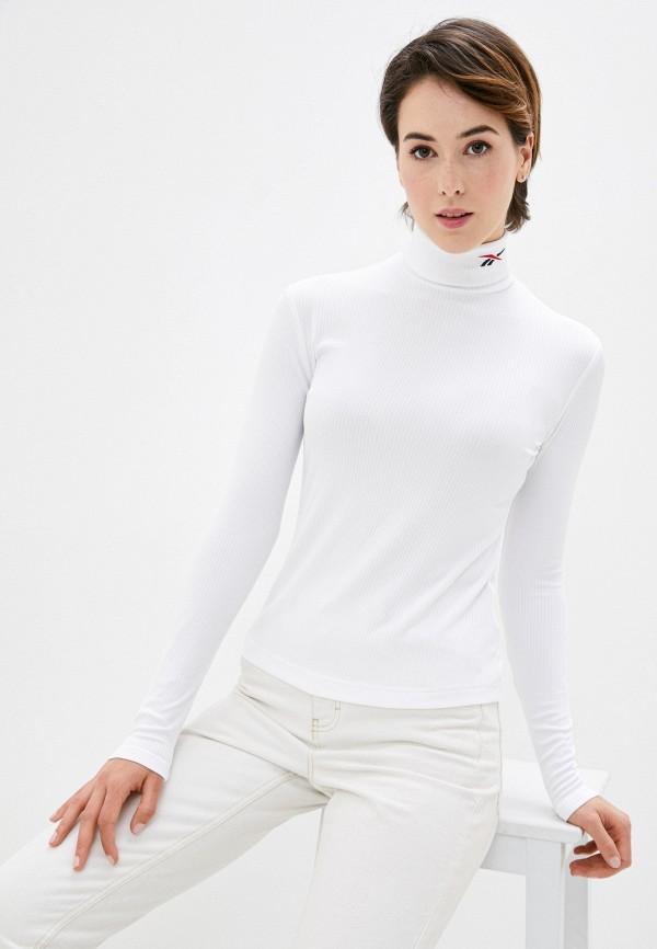 женская водолазка reebok classic, белая
