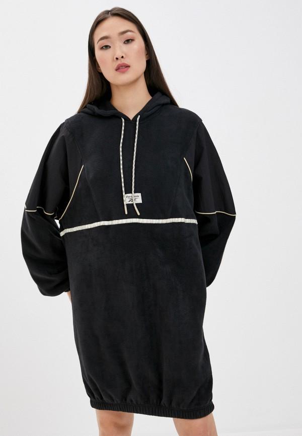 женское спортивные платье reebok classic, черное