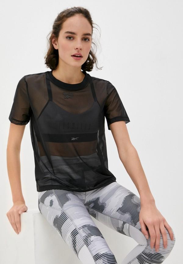 женская спортивные футболка reebok classic, серебряная