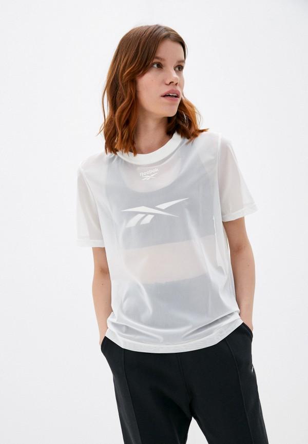 женская спортивные футболка reebok classic, белая