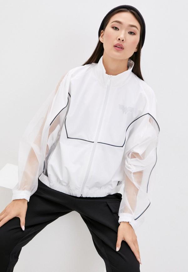 женская куртка reebok classic, белая