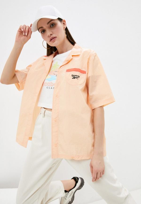 женская рубашка с коротким рукавом reebok classic