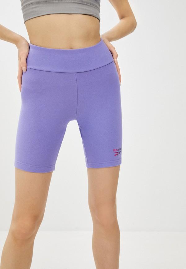 женские шорты reebok classic, фиолетовые