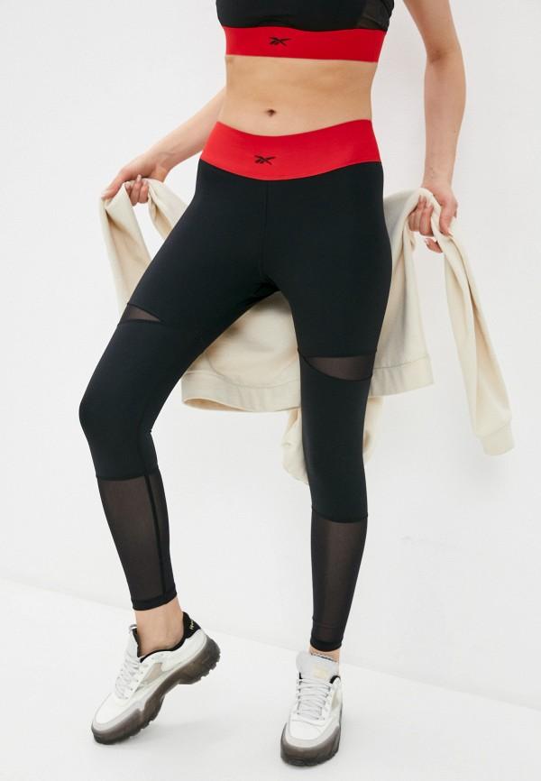 женские спортивные леггинсы reebok classic, черные