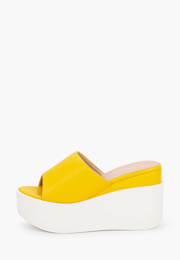 женское сабо renda, желтое