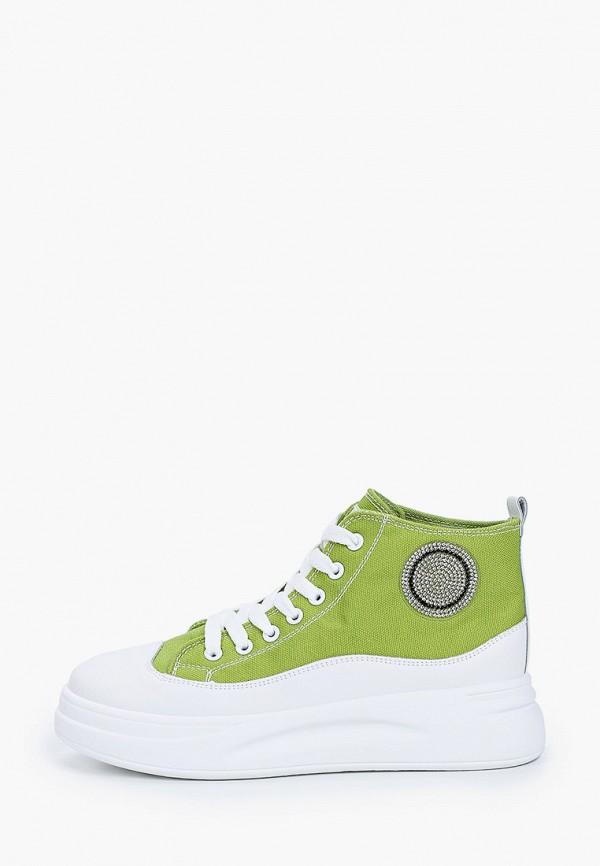 женские кеды renda, зеленые