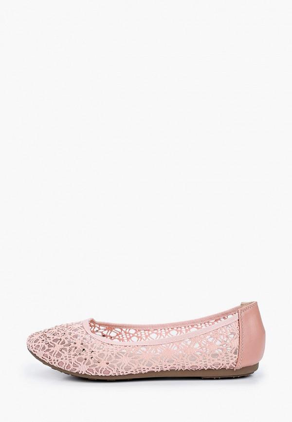 женские балетки renda, розовые