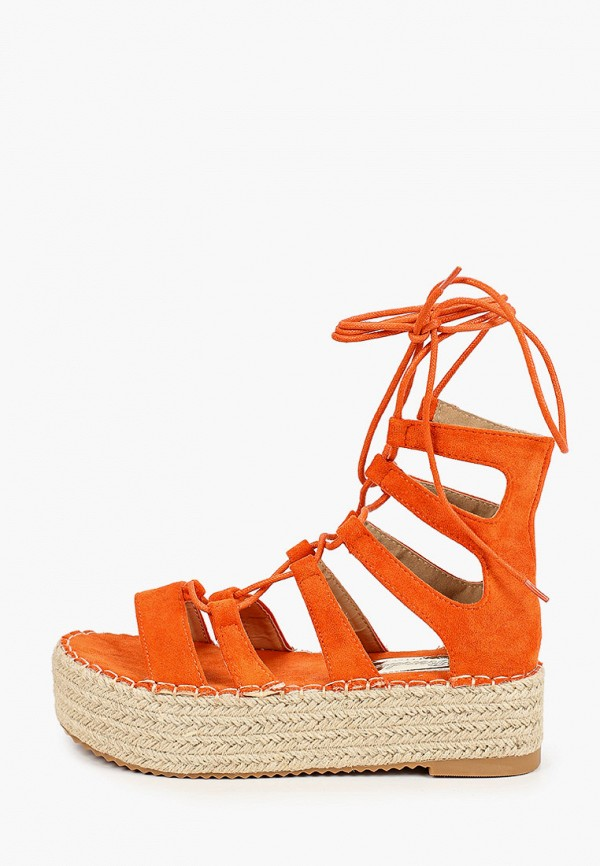 женские сандалии renda, оранжевые