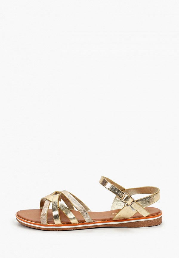 женские сандалии renda, золотые