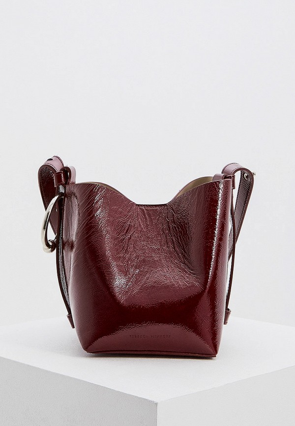 женская сумка rebecca minkoff, бордовая