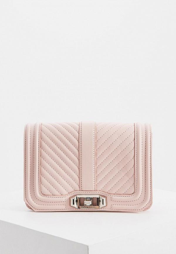 женская сумка rebecca minkoff, розовая